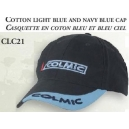 COTTON LIGHT BLUE AND NAVY BLUE CAP