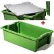 Plastic boxes, stackable, Arcasystem