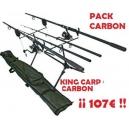 CARBON CARP KIT - Completo 2 CAÑAS Set-up