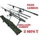 CARBON CARP KIT - Completo 2 CAÑAS Set-up