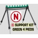 SUPPORT KIT GREEN 4 legs, 8 POSITIONS, D.40 MM