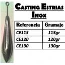 PLOMO CASTING ESTRIAS VARILLA INOX