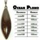 PLOMO  PLASTIFICADO OCEAN CON EMERILLON