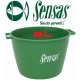 sensas strong groundbait bucket 2 handles 35 l.