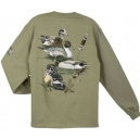 HUNTING T-SHIRT AL AGNEW DUCK COLLAGE LONG SLEEVE