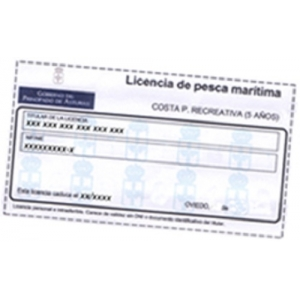FISHING LICENSE, SEA COAST 5 YEARS SPAIN