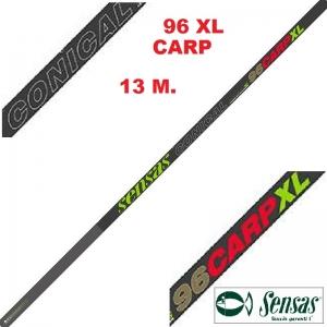 SENSAS CAÑA ENCHUFABLE NANOFLEX CONICAL CARP XL 96 , 13M.
