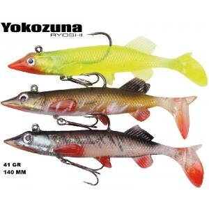 YOKOZUNA RUBBER PIKE X-HECHT 140 MM. 41 GR.