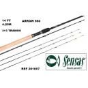 SENSAS METHOD FEEDER ROD BLACK ARROW 550 , 14' FT,4.20M
