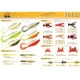 10 packages of rubber fish, CHOICE TASTING