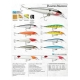 10 artificial lures, assorted tasting