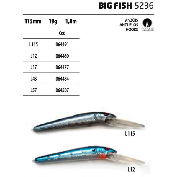 Vega akada big fish lure wobler leurre koder se uelo for Big fish company